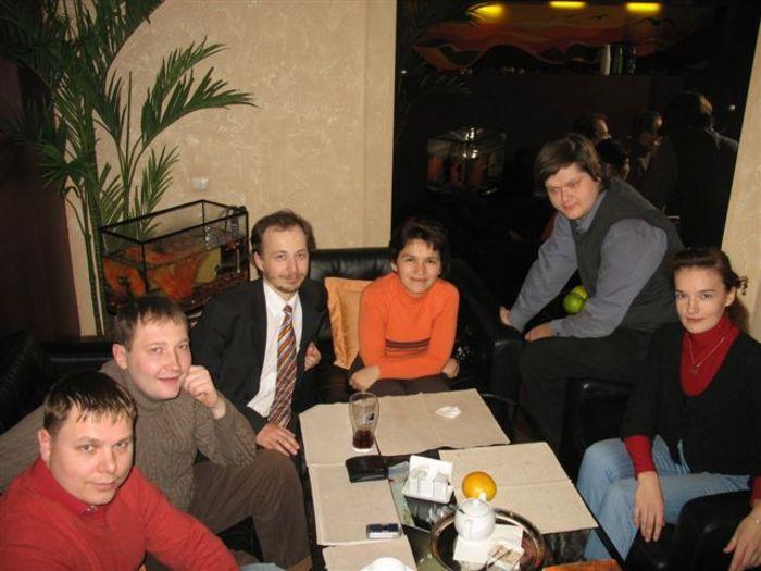 Костя Ляхов, Сережа Селезнев, я, Инга Кудымова, Володя Кочуров, Наташа Шабрыкина